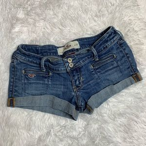 Hollister Double Button Jean Shorts Size 25